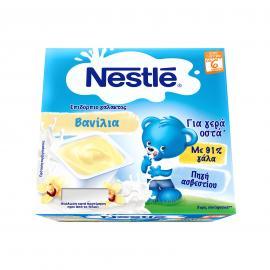 Nestle Neslac Επιδόρπιο Γάλακτος Bανίλια 4x100gr