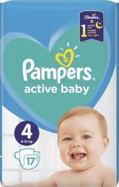 Pampers Active Baby Μέγεθος 4 (9-14kg) 17 Πάνες