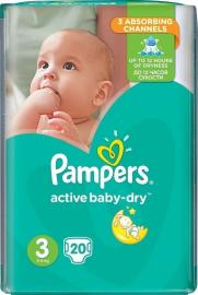Pampers Active Baby Dry No3 5-9kg (20 τεμ)