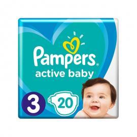 Pampers Active Baby Πάνες Μέγεθος 3 (6-10 kg), 20 τμχ