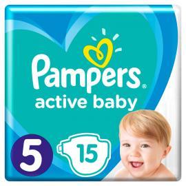 Pampers Active Baby Μέγεθος 5 (11-16kg) 15 Πάνες