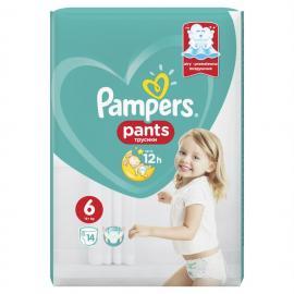 Pampers Pants Μέγεθος No 6 (15+kg) 14 Πάνες - Bρακάκι