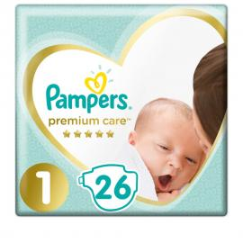 Pampers Premium Care No.1 (2-5 kg) 26Τμχ