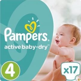 Pampers Active Baby Dry No4 8-14kg (17τεμ)