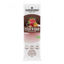 Superfoods Your Bar με Κράνμπερι, Ράσμπερι, Ασερόλα, Μέλι, Ταχίνι και Μαύρη Σοκολάτα με Στέβια 45gr