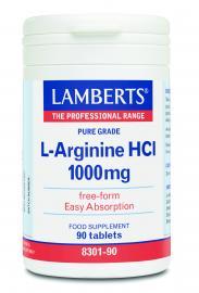 LAMBERTS L-ARGININE HCI 1000MG 90CAPS