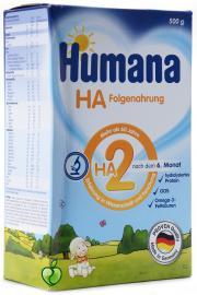 Humana HA 2, Υποαλλεργικό Γάλα 2ης Βρεφικής Ηλικίας, 500 gr