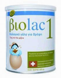 Βιοlac 1 Βιολογικό Γάλα 1ης Βρεφικής Ηλικίας Έως Τον 6ο Μήνα 400gr