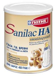 Γιώτης Sanilac HA Υποαλλεργικό Γάλα από τη Γέννηση & Μετά 400gr