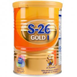 WYETH S-26 Gold 1 Γάλα Για Βρέφη Σε Σκόνη Μέχρι Και Τον 6ο Μήνα 400gr