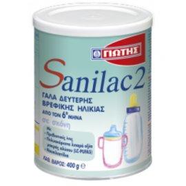 Γιώτης Sanilac 2 Βρεφικό Γάλα Σε Σκόνη (Από 6 Μηνών) 400gr