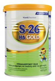 Wyeth S26 ΗΑ Gold Γάλα με Υποαντιγονική Σύνθεση για την Αντικατάσταση του Μητρικού Γάλακτος 400 gr