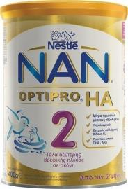 Nestle Nan HA No2 Optipro Υποαλλεργικό Γάλα Πρώτης Βρεφικής Ηλικίας 6-12 μηνών, 400gr