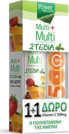 Power Health Vitamin C 1000mg Apple Stevia 24tabs & Vitamin C 500mg Orange 20tabs