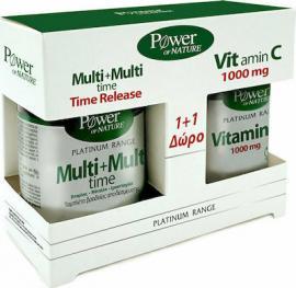 Classics Platinum Multi+Multi Time 30tabs+Δωρο Vitamin C 1000mg 20tabs