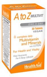 HEALTH AID A to Z Multivit One-A-Day, Πολυβιταμίνη - 30tabs