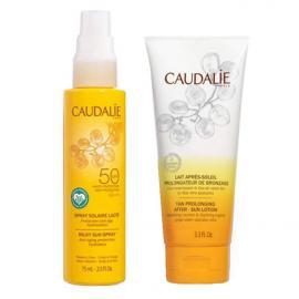 Caudalie Set Milky Sun Spray SPF50 Αντηλιακό Γαλάκτωμα για Πρόσωπο και Σώμα 75ml & Tan Prolonging After Sun Lotion 75ml