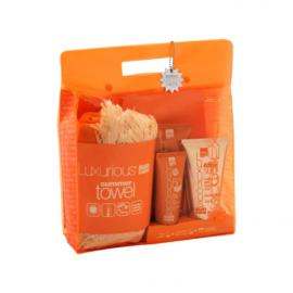 Intermed Luxurius Summer Towel Set - Face Cream SPF50 75ml + Sunscreen Body Cream SPF30 200ml + After Sun Cooling Gel 150ml